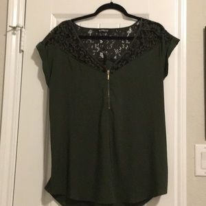 Express Roll Sleeve Blouse